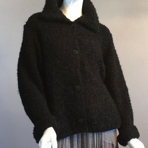 Black Fluffy and Chunky knitted Sweater